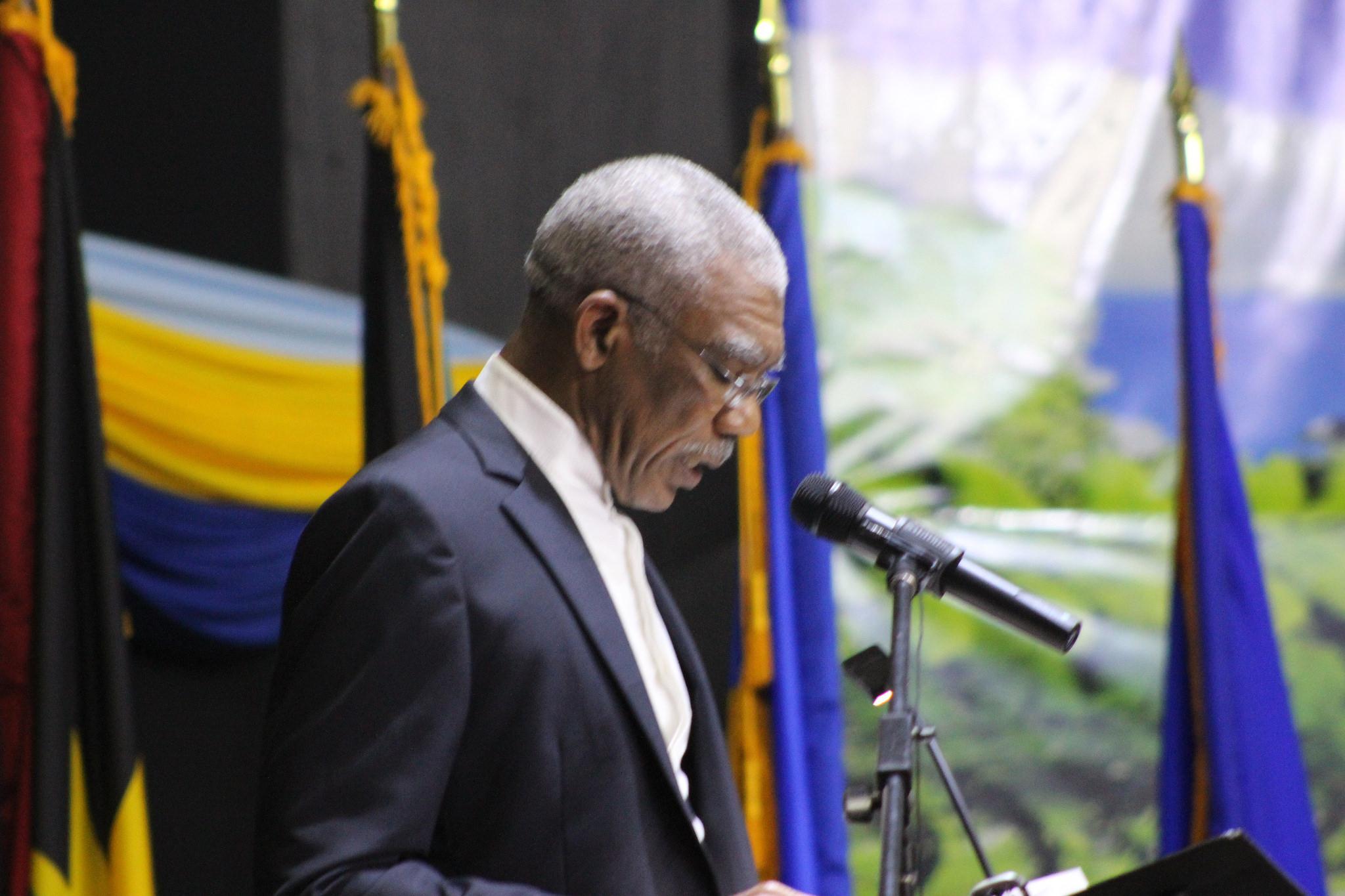 Outgoing Chairman of CARICOM H.E. David Granger