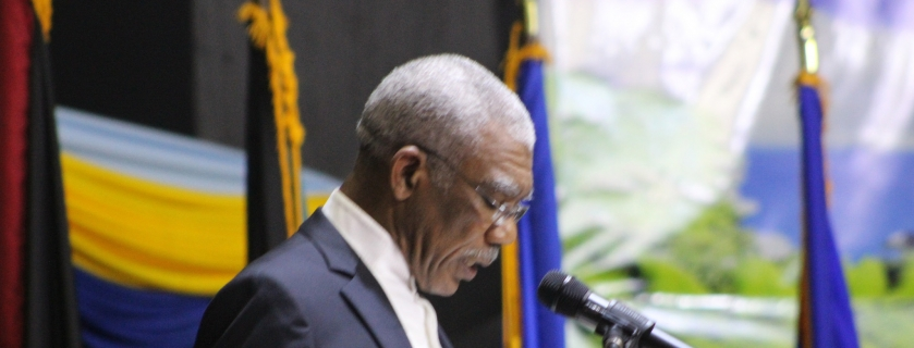 Outgoing Chairman of CARICOM H.E. David Granger