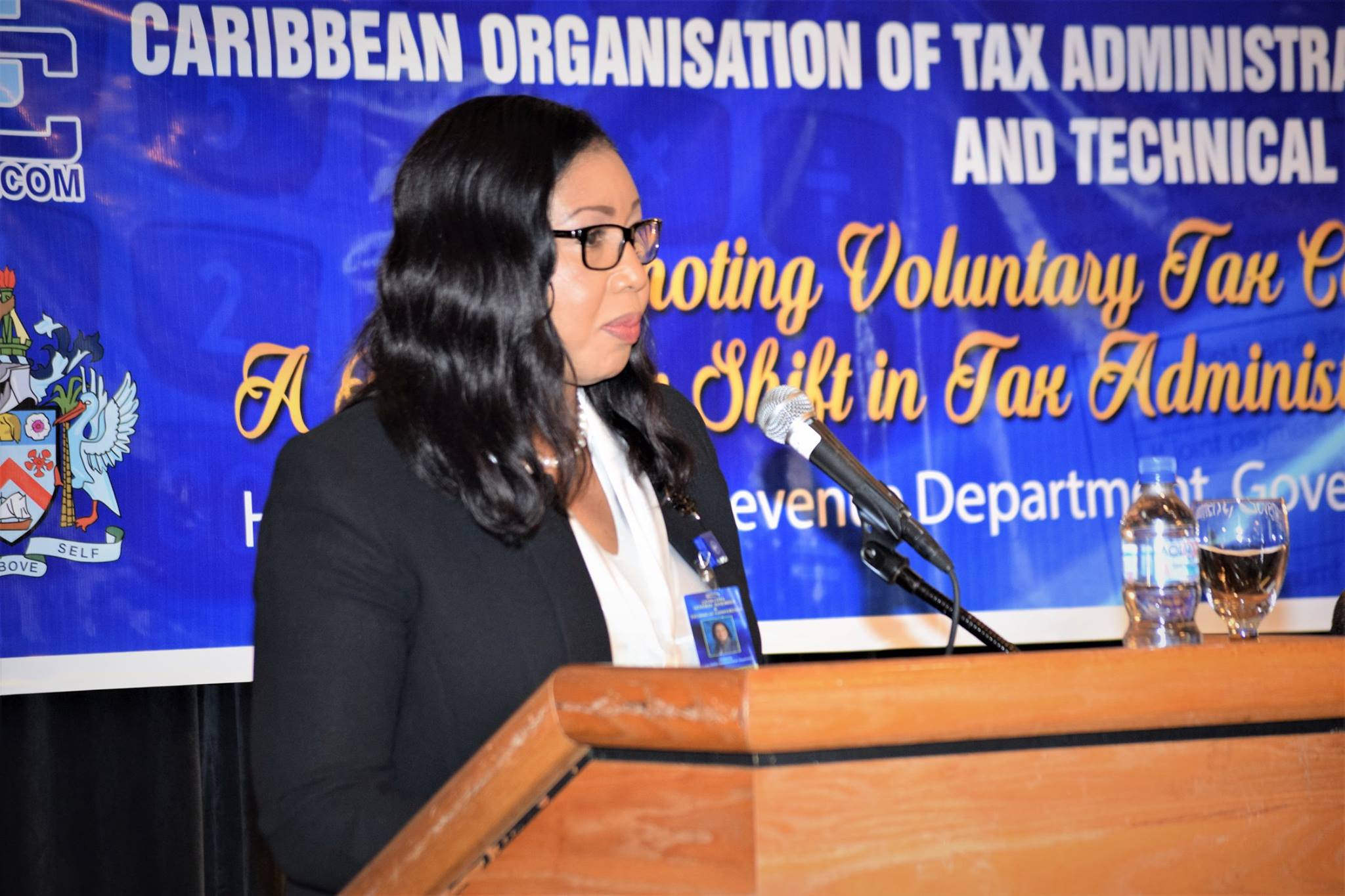 Ms. Evelyn Wayne, Director, Economic Policy and Development, CARICOM Secretariat  (Photo via St. Kitts and Nevis Information Service)