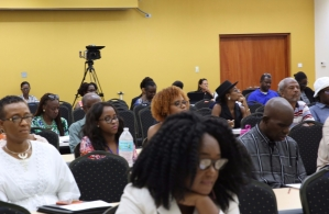 Participants at the Cultural Policy and Intellectual Property Rights workshop on August 20, 2017, held at the University of the West Indies, Cave Hill campus