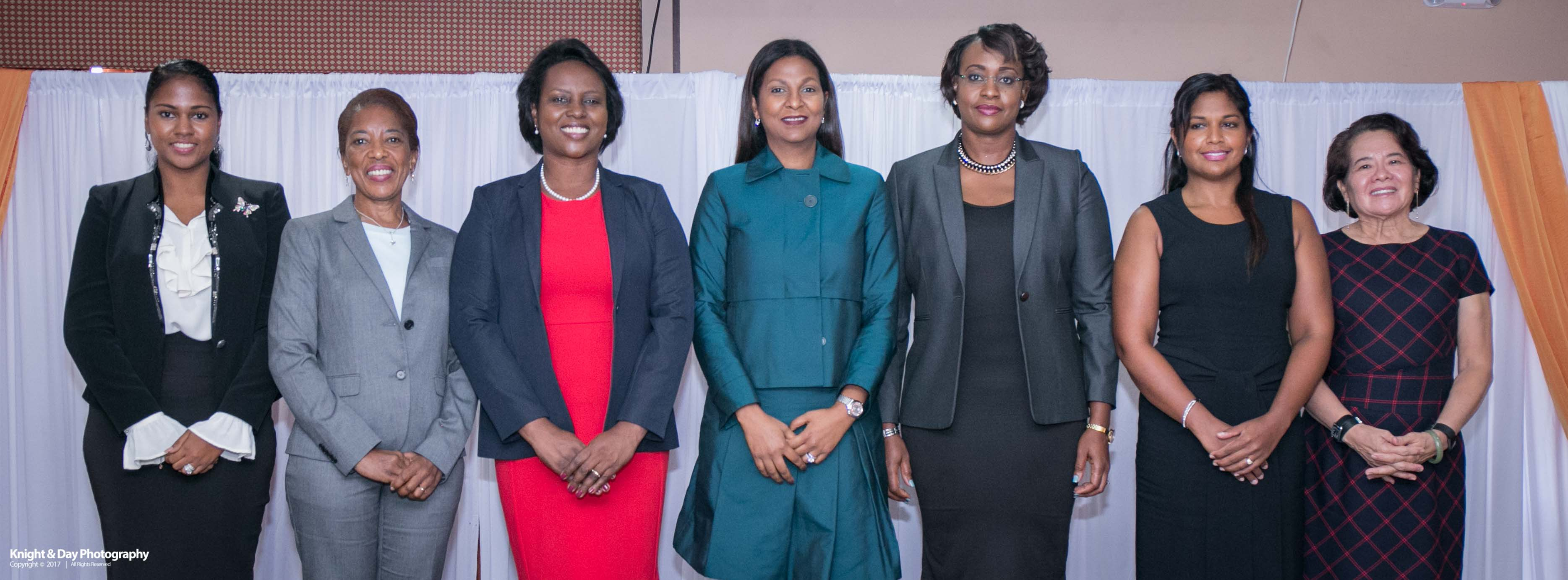 Members of the Spouses of Caribbean Leaders Action Network (SCLAN) at the launch