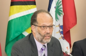 CARICOM Secretary-General, Ambassador Irwin LaRocque, makes remarks at the Opening of the 71st Special Meeting of the Council for Trade and Economic Development (COTED) Agriculture, at the CARICOM Secretariat, Georgetown, Guyana.
