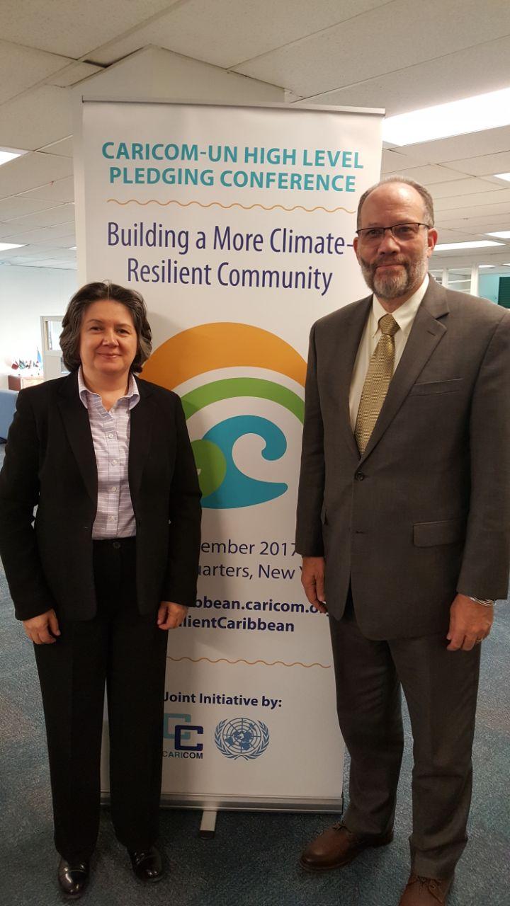 UNDP Director Regional Bureau for Latin America and the Caribbean and CARICOM SG Ambassador Irwin Larocque