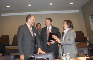 CARICOM SG Amb. Irwin Larocque; UNDP Administrator Achim Steiner; Director UNDP, Latin America/Caribbean Jessica Faieta