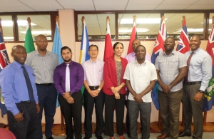 CARICOM Deputy Secretary General with CARICOM Secretariat Housing App Team