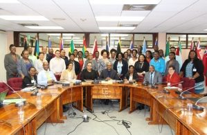 Participants at an RBM workshop, CARICOM Secretariat, March 2017