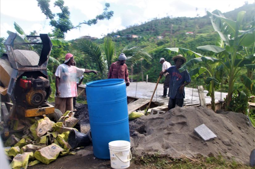 Citizens in Dominica doing their part to build back better