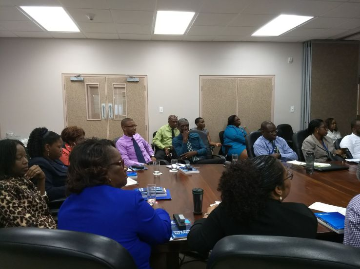 Representatives of regional institutions based in Barbados during the discussions on Wednesday