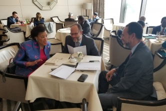CARICOM SG briefed by his Commonwealth counterpart ahead of Summit