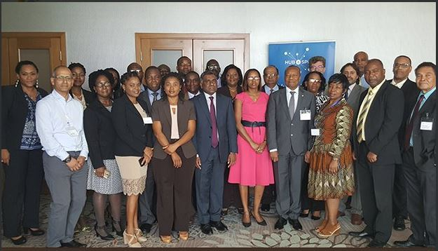 Regional Workshop participants following the opening ceremony on Monday