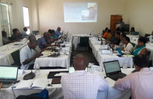 Representatives from CRFM Member States meet to refine draft protocol for climate change adaptation and DRM in Fisheries