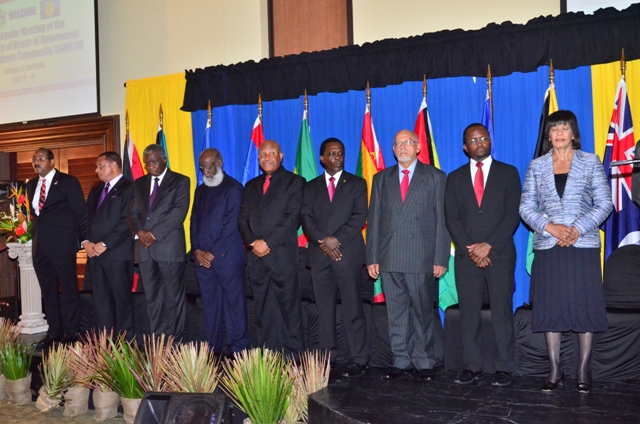 Heads of Government at their Thirty-Fifth Regular Meeting in Antigua and Barbuda, in 2014