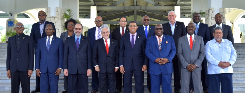 CARICOM Heads and Chilean President