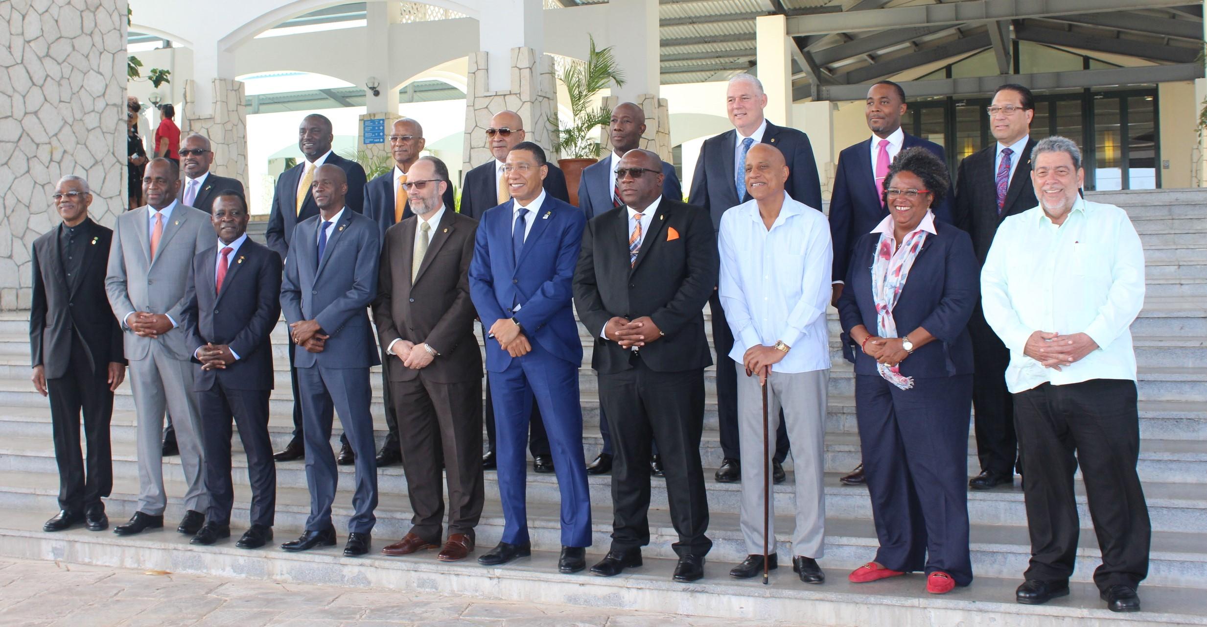 CARICOM Heads at the 39th Regular Meeting, Montego Bay, Jamaica