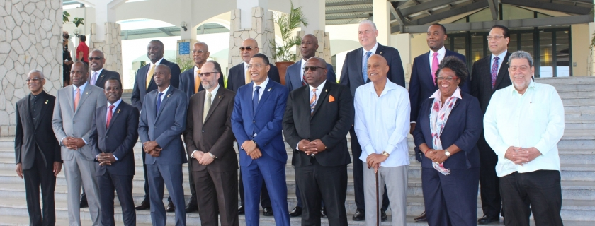 CARICOM Heads at the 39th Regular Meeting, Montego Bay, Jamaica