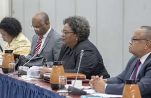 Barbados Prime Minister Mia Mottley at Friday's meeting
