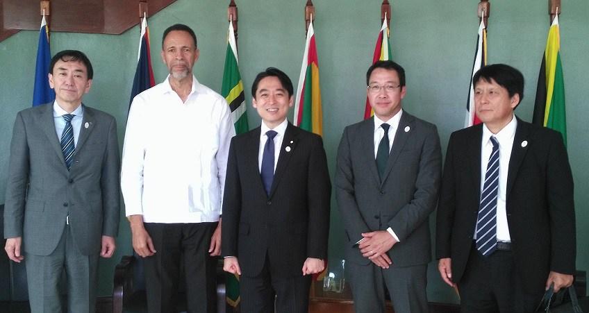 Assistant Secretary-General, Foreign and Community Relations, Ambassador Colin Granderson (2nd left) meets Japanese delegation