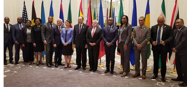CARICOM Foreign Ministers, Secretary-General and US Deputy Secretary of State following their meeting in New York