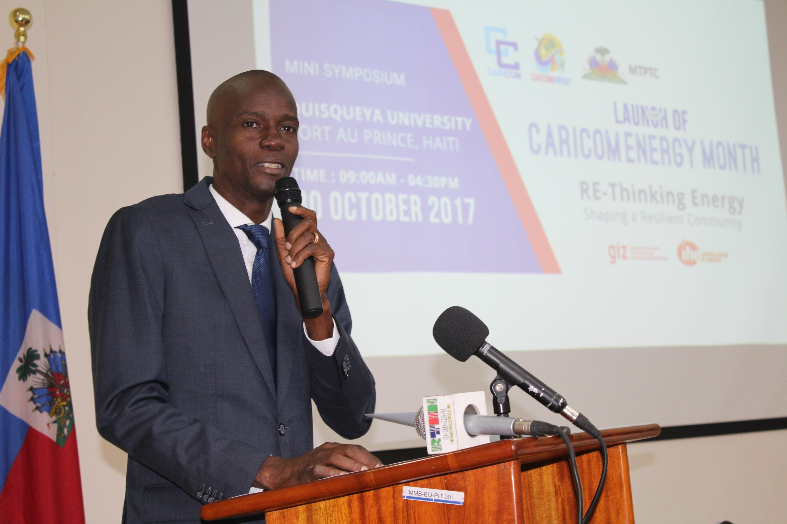 FLASHBACK: President of Haiti, His Excellency Jovenel Moise addressing the launch of CEM last year