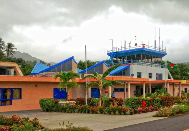 The Douglas-Charles Airport airport is one of the public buildings targeted for energy efficiency (Photo via Dominica News Online