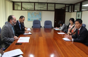 CARICOM SG  and Japan's Ambassador to CARICOM lead their delegations