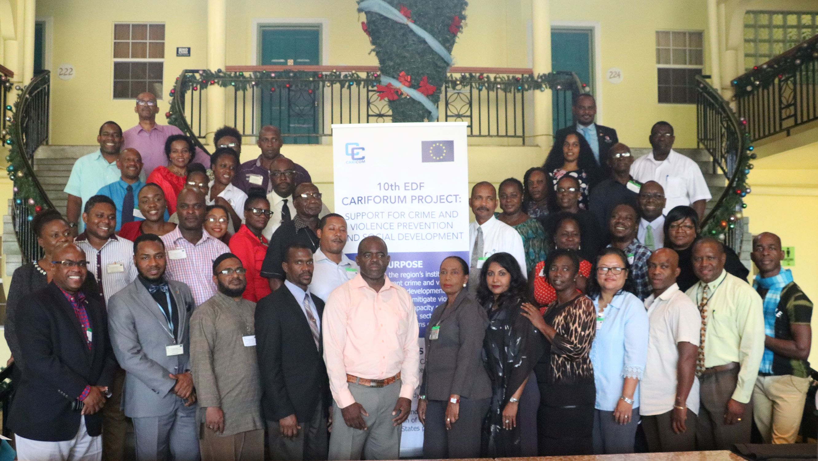 Group photo of  Participants  at the Regional Train-the-Trainer Workshop on Restorative Justice (Photo: Rawle Warde)