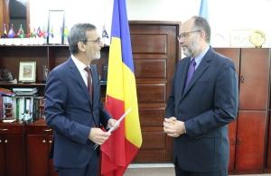 Ambassador Stefan Mera  (l) and Secretary-General Ambassador Irwin LaRocque