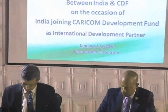 CARICOM Development Fund (CDF) Signs US$ 1 million Contribution Agreement with Government of India