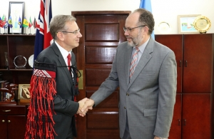 CARICOM SG welcomes New Zealand Ambassador HE Anton Ojala