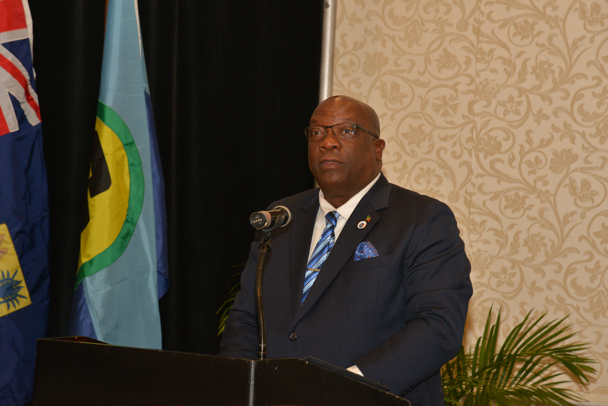 Dr. The Hon. Timothy Harris, Prime Minister of St. Kitts and Nevis and Chairman of the Cariibbean Community