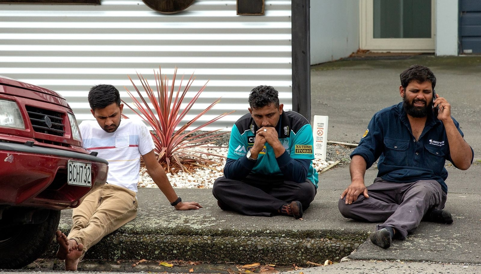 Christchurch was put into lockdown as events unfolded (Photo via BBC)