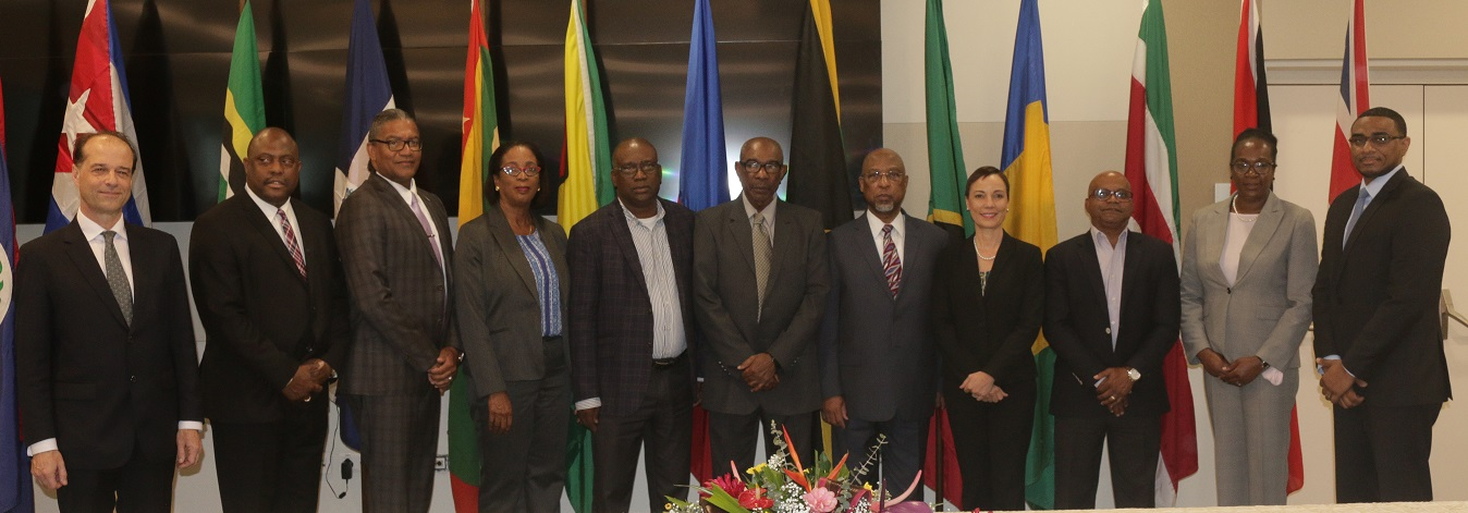Signatories and CARIFORUM Officials at the Meeting in Saint Lucia