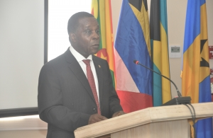 Hon. Dr. the Rt. Hon. Keith Mitchell, Prime Minister of Grenada and Minister of National Security  of Grenada addresses the opening of the 20th Meeting of the CONSLE