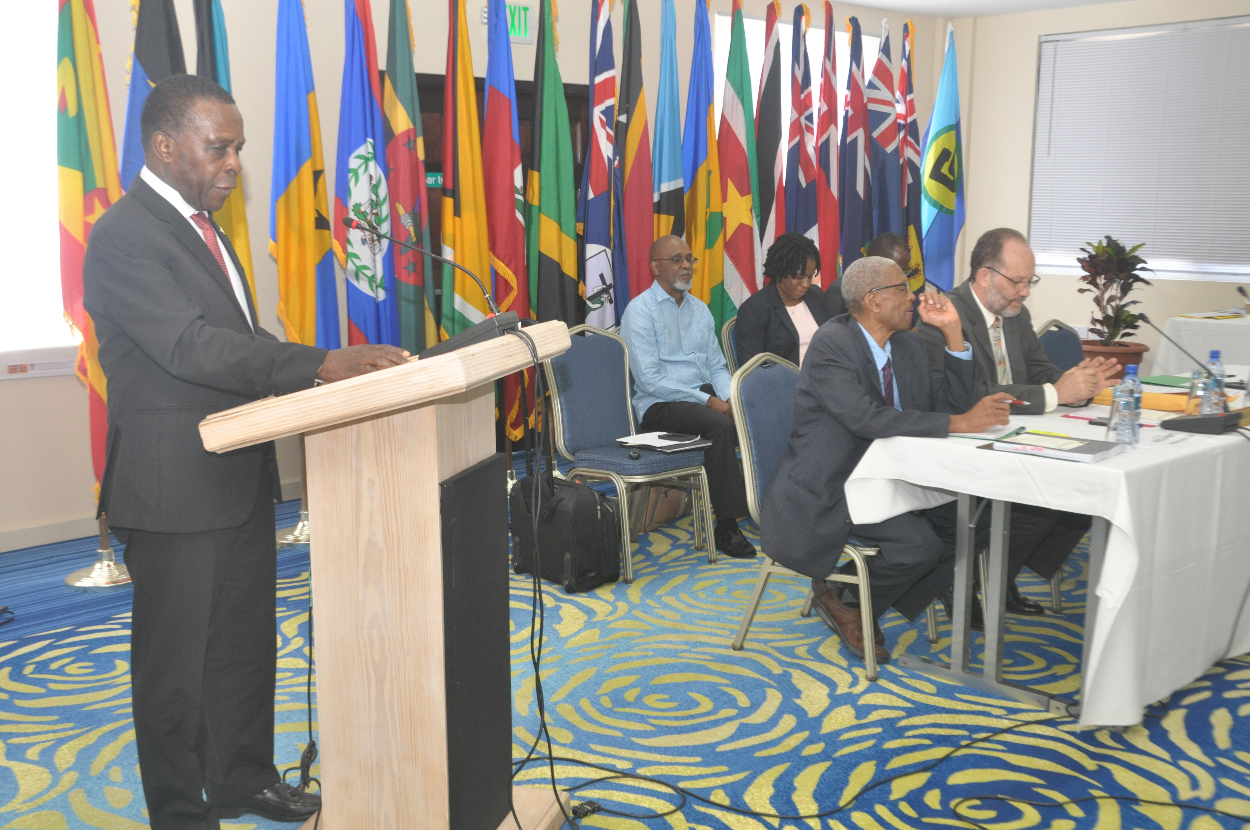 Prime Minister Dr Keith Mitchell of Grenada addressing the CONSLE Meeting