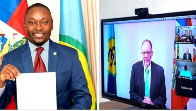 Photo of New Haitian Ambassador to CARICOM accredited