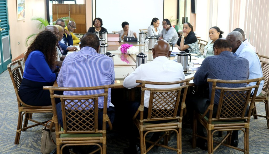 Members of the CARICOM Election Observation Mission in a preparatory session, Friday
