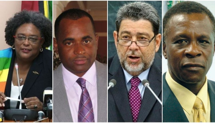 L-R: Prime Ministers Amor Mottley, Roosevelt Skerrit, Ralph Gonsalves and Keith Mitchell