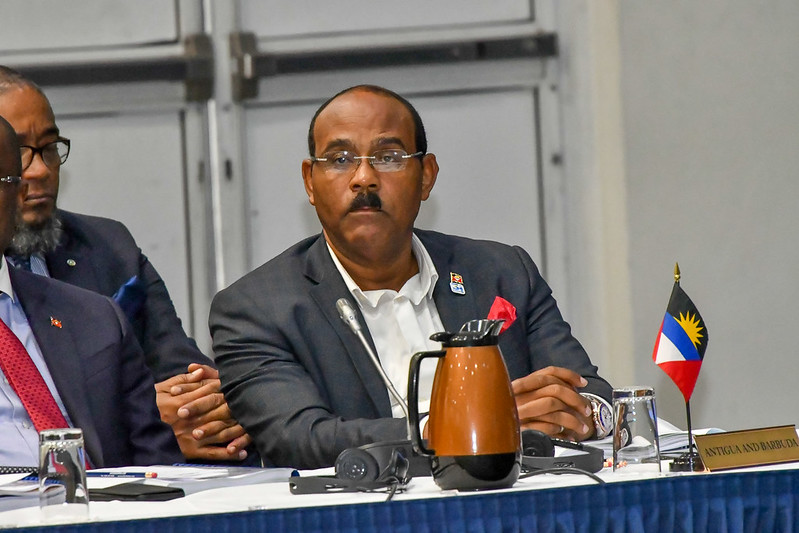 Prime Minister of Antigua and Barbuda, the Hon Gaston Browne at the Meeting