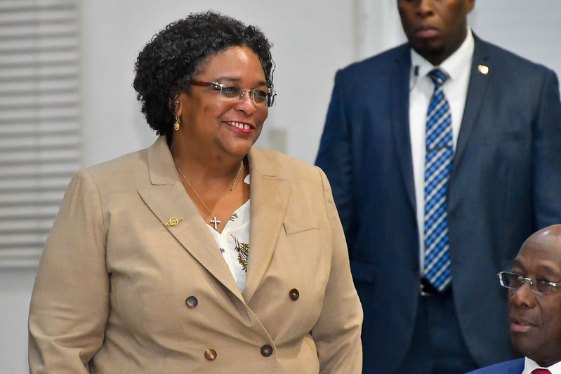 Chair of CARICOM, PM Mia Mottley of Barbados, at the opening on Tuesday
