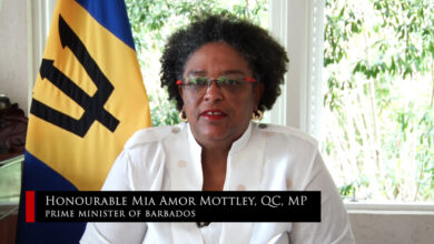 Photo of Remarks by the Hon. Mia Amor Mottley, Prime Minister of Barbados, as outgoing Chair of  CARICOM, during the 20th Special Meeting of CARICOM Heads of Government, July 3, 2020
