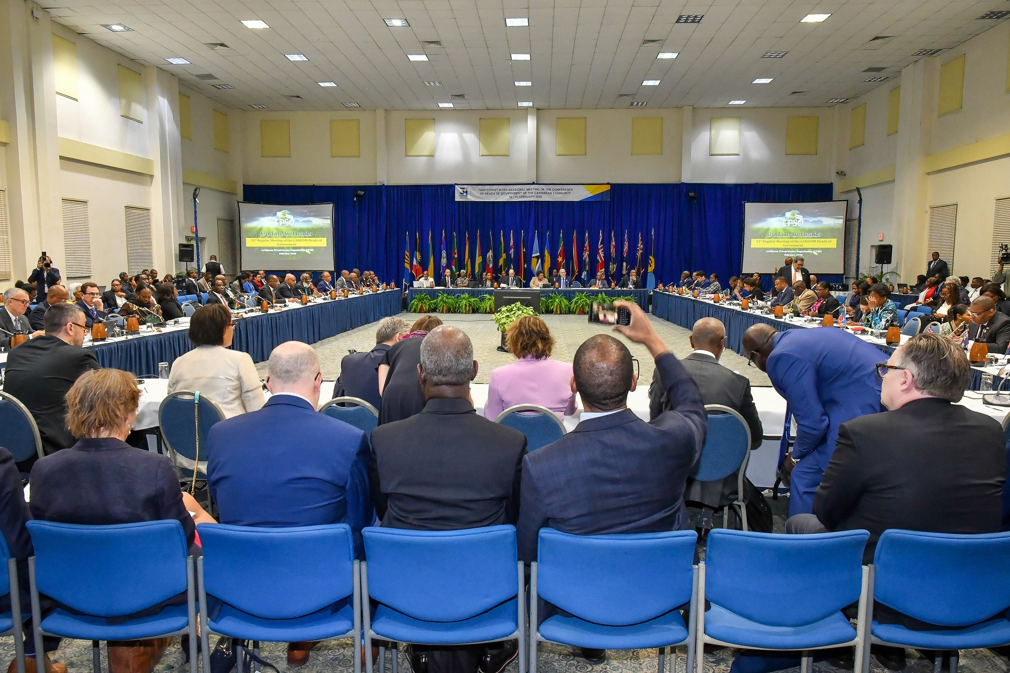 Heads of Government and delegates at the 31st Intersessional Meeting of the Conference of Heads of Government of CARICOM