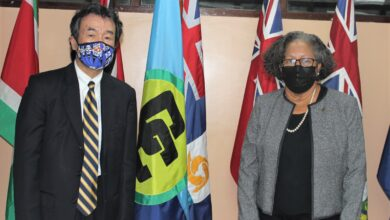 Photo of Secretary-General holds wide ranging discussions with Japan's Ambassador to CARICOM