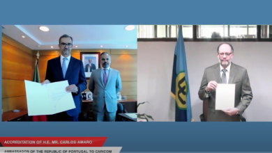 Photo of New Ambassador of Portugal to CARICOM accredited