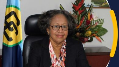 Photo of Message by Dr. Carla Barnett, CARICOM Secretary-General on the occasion of the 13th Observance of Caribbean Statistics Day, 15 October 2021