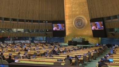 "Photo of United Nations General Assembly adopts resolution in ""Solidarity with and support for the Government and people of Saint Vincent and the Grenadines, as well as neighbouring countries affected by the impact of the eruptions of the La Soufriere Volcano"""