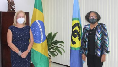 Photo of Agriculture development discussed as SG accredits Brazil's new Ambassador to CARICOM
