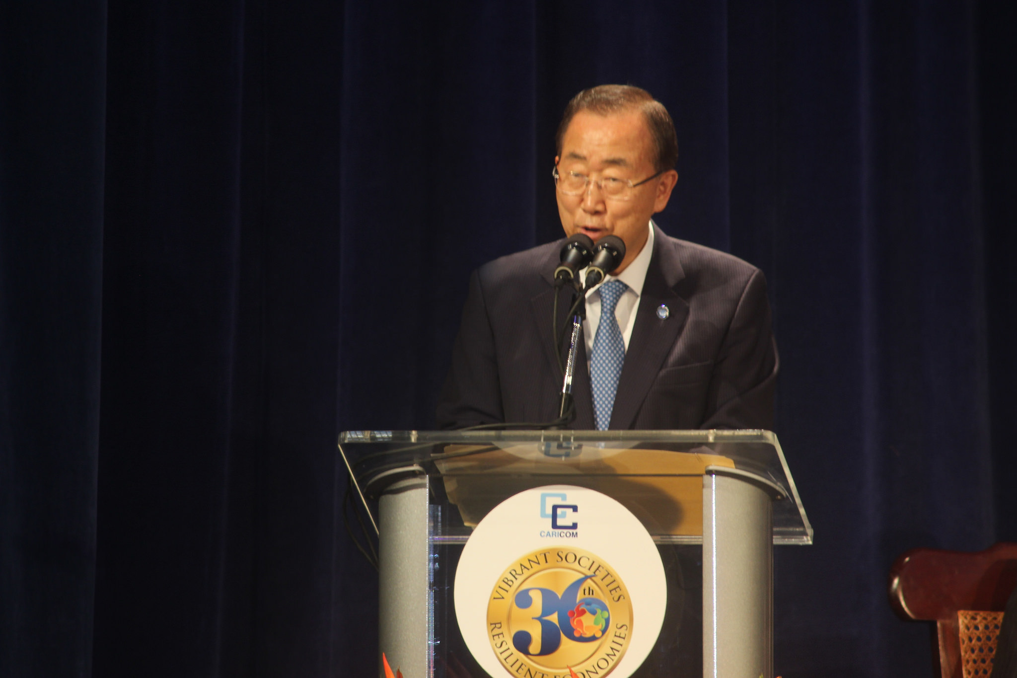 Photo of UN S-G remarks at end violence event Barbados