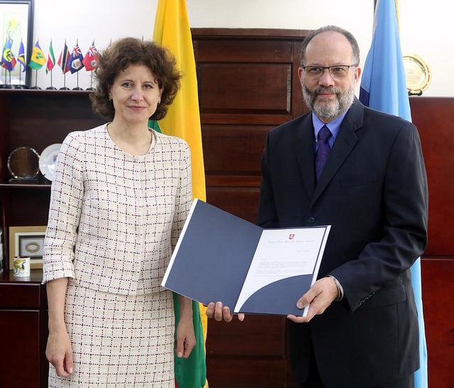 Photo of SG URGES LITHUANIA TO ADVOCATE FOR CARICOM