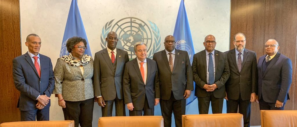 Photo of Visit of Delegation of CARICOM Member States to the UN Secretary-General