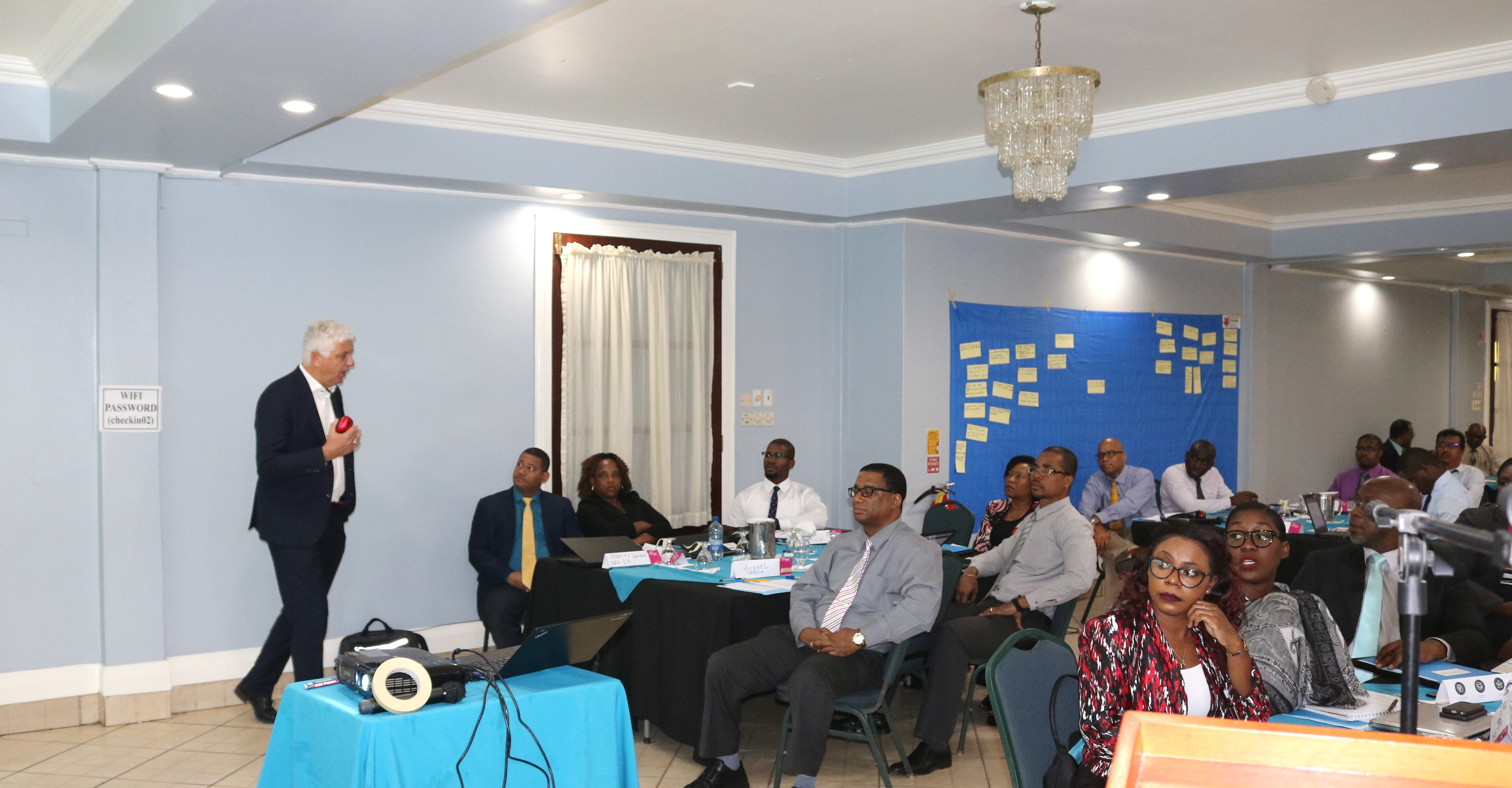 Photo of NAO Representatives of CARIFORUM States, regional organizations being trained to implement EDF-funded projects